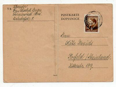 1944 Czechoslovakia To Germany Theresienstadt Concentration Camp Cover