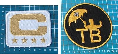 NEW ORLEANS SAINTS DREW BREES 4-⭐GOLD C + TOM BENSON PATCH NFL Football embroid