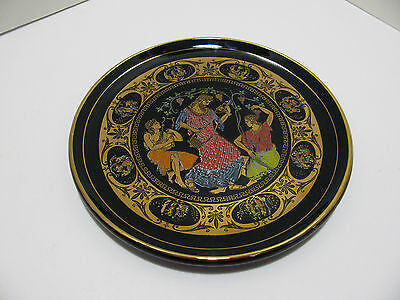 Handmade Greek Cobalt Blue 24k Gold Decorative Wall Plate - Greece