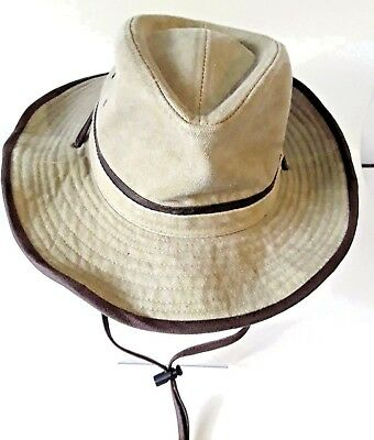 f9dccc797dc DORFMAN PACIFIC CO Men s Hat Straw Outback Chin Cord Natural Size ...