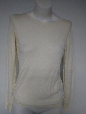 BOSS Hugo Boss Womens ivory Sweater Blouse M