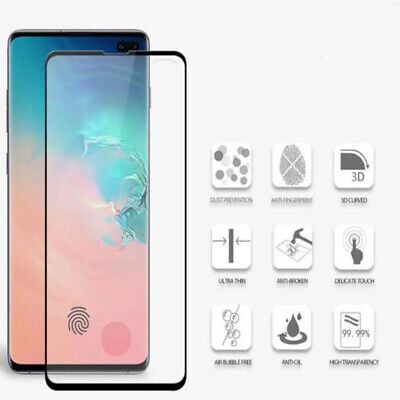 Case Friendly Curved Full Cover Tempered Glass Screen Protector for Samsung S10