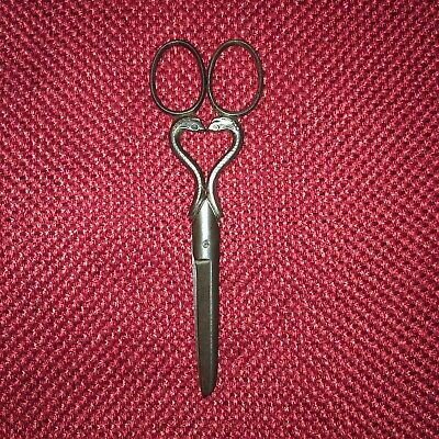Antique Vintage Ornate Collectors Collectible Forged Steel Sewing Scissors