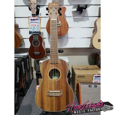 Tiki by Timberidge 9 Series Solid Koa Top Concert Ukulele with Hardcase