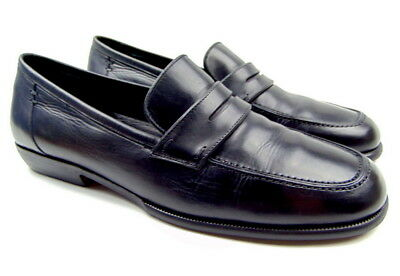 d9b266a3a42 Cole Haan City Black Leather Moc Toe Slip-on Loafers Mens size 9.5 D Italy