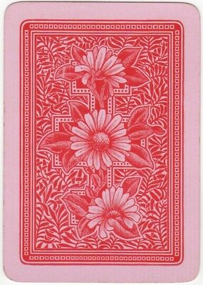 Playing Cards Single Swap Card Antique English Wide DAISY FLOWER Daisies Flowers