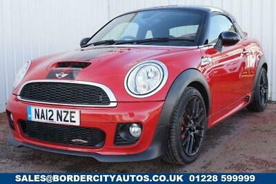 2012 12 Mini Coupe 1.6 John Cooper Works 2D 208 Bhp Coupe Petrol Manual Red Fsh