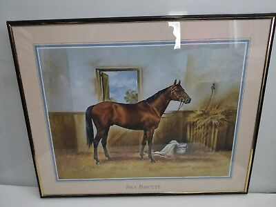 Sea Biscuit Print Horse Painting by Paul Whitney Hunter, 20x16