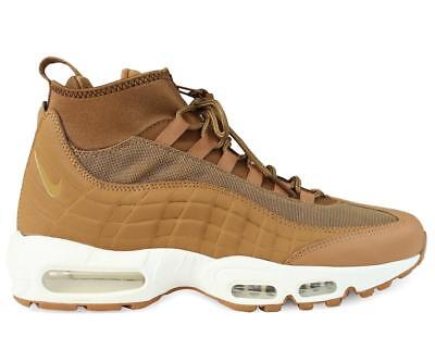 the latest 0259a b3335 Hommes Nike Air Max 95 Sneakers Flax Ale Marron Voile Bottes 806809 201