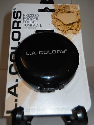 "L.A. COLORS PRESSED POWDER MAKEUP ""BEIGE"" 0.35oz. COMPACT W/MIRROR, SEALED, NIP!"