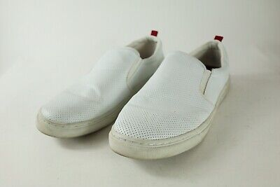 597d9824be4 STEVE MADDEN MENS 11 Height Slip On Loafers White Fashion Sneakers