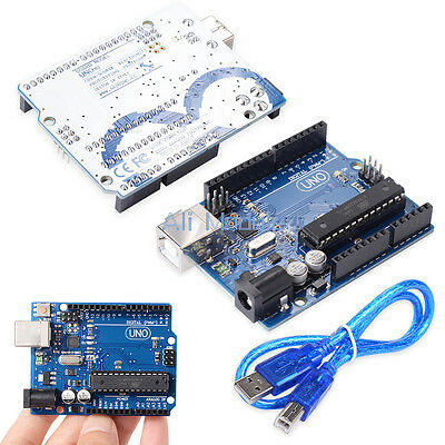 UNO R3 ATmega328P ATMEGA16U2 Board For Arduino Compatible+USB Cable AM