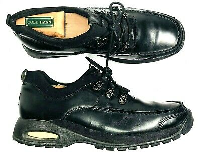 027258197e Cole Haan Country NikeAir Mens Black Leather Slip On Quik Lace Shoes Sz 8 M