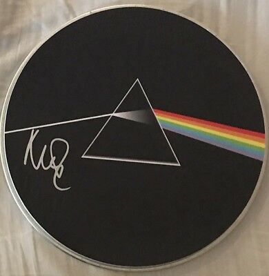 Pink Floyd Autographed Drumhead Nick Mason Signed Drum Proof (Waters Gilmore)