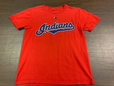 reputable site 7e9ff c0cdd FRANCISCO LINDOR CLEVELAND Indians Majestic Red T-Shirt - Youth Medium