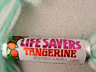 VTG NOS 60's/70's TANGERINE Lifesavers Roll~Unopened~Candy RaRe Xmas Ornament