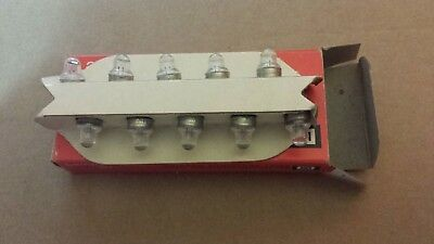 Box of 10 Chicago Miniature 73 CM73 GE73 Subminiature Wedge Lamps Light Bulbs