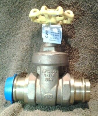 "APOLLO 30LF03601PR Gate Valve 1-1/4"" Lead Free Bronze 125 Class Non-Rising Stem"