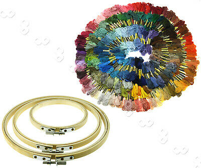 Bamboo Hoops/Different Colors Embroidery Thread Floss Cross Stitch Accessories