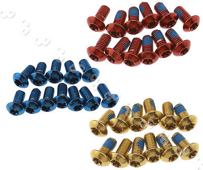 12 x DISC BRAKE ROTOR SCREW BOLTS M5 X10MM for CYCLING BIKE BICYCLE Fixing