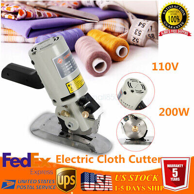 "3.5"" Electric Cloth Cutter 90mm Fabric Leather Cut Machine Round Scissors Blade"