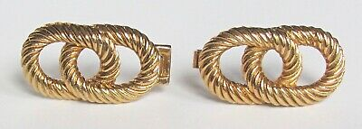 Mimi Di N 1974 Double Belt Buckle Twisted Knot Design Gold Tone Signed