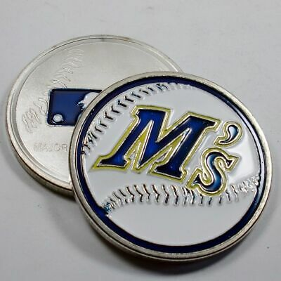 MLB Seattle Mariners Poker Chip Card Guard Challenge Coin Golf Marker