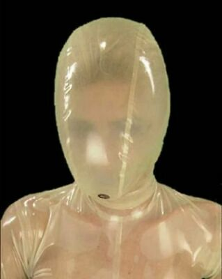 954 Latex Rubber Gummi breathing Mask Hood customized catsuit costume