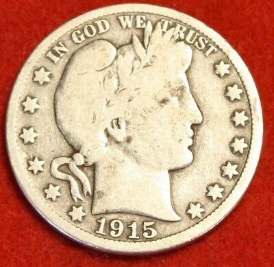 1915-D Barber Half Dollar Vg Beautiful Coin Check Out Store Bh411