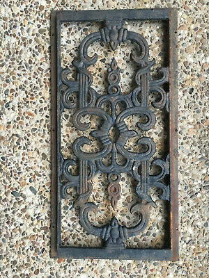Vintage Cast Iron Wall Heating Register Grate Vent Cover Architectural Salvage