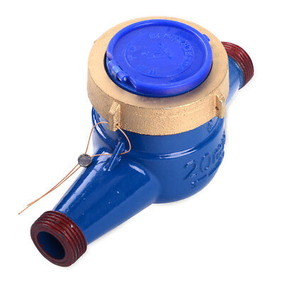 3//4 inch Cold Water Meter Agricultural Counter Brass Flow Measure Tape