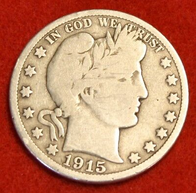 1915-D Barber Half Dollar Vg Beautiful Coin Check Out Store Bh409