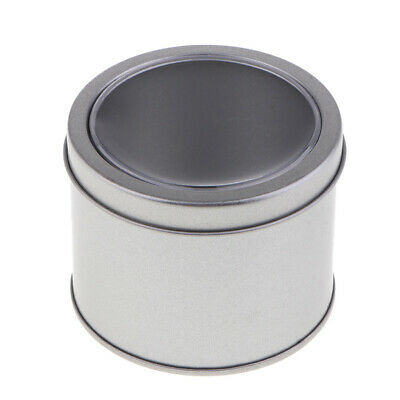 Round Aluminum Jar Tin Pot Metal Cosmetic Makeup Packaging Storage Container