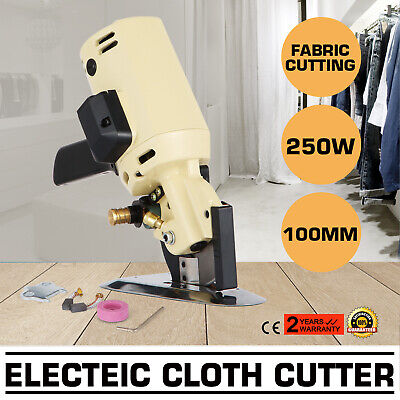 Electric Round Knife Scissor Cloth Cutter Fabric Textile Leather Cutting Machine
