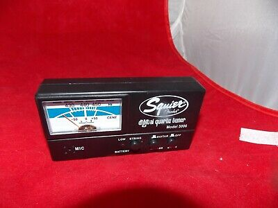 Squire by Fender Digital Quartz Guitar & Bass Tuner Model 5006