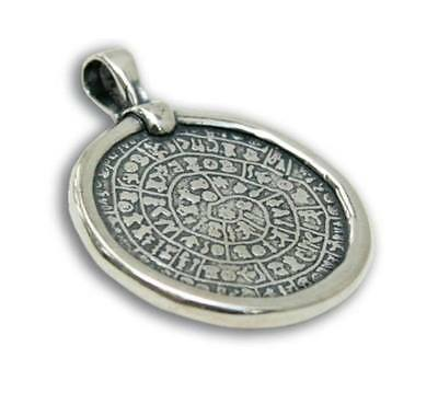 Ancient Minoan PHAISTOS Disk Silver Pendant ~ Greek Jewelry