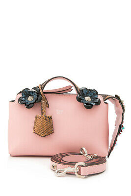eaa765e60088 Pre-Owned Fendi Flowerland Mini By The Way (Pink  Calfskin Leather)