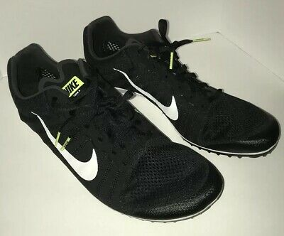 sale retailer cd1c3 55be3 Nike Zoom D Distance Track Spikes Men s Black White Size 11.5 819164-017
