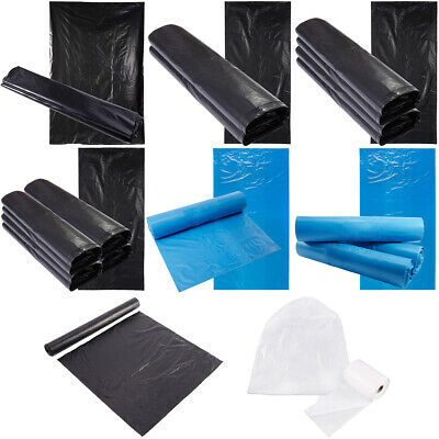 Refuse Sack Liner Bags For Wheelie Bin Strong Heavy Duty Clear Rubish Durable