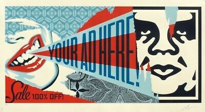Shepard Fairey Your Ad Here Billboard print Obey Giant Beyond the Streets large