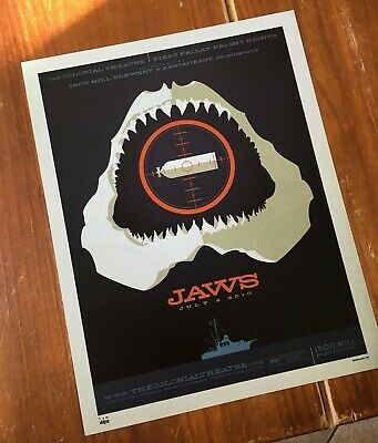 """Jaws""  Artist: Tom Whalen  Limited Edition Print, Artist Signed!!  $45 Obo!"