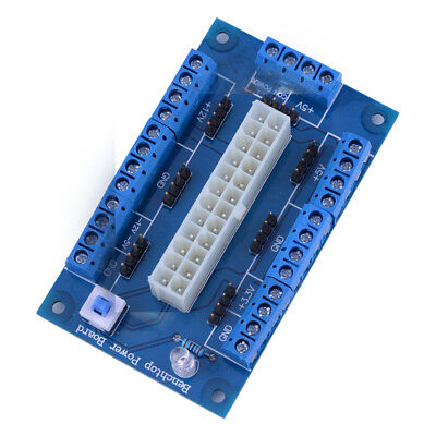 24//20pin ATX Computer PC Power Supply Breakout Board Adapter Extension Module TW