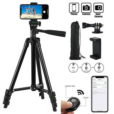 Professional Camera Tripod + Bluetooth Remote Control For Apple iPhone/Samsung