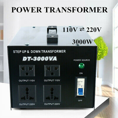 HD 110V 220Volt 3000W 3000 Watt Step Up//Down Voltage Transformer Converter MX