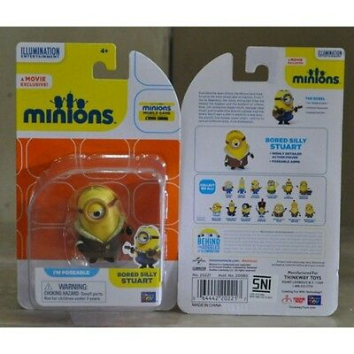 """MINIONS 2"""" Poseable Figure ~~Bored Silly Stuart~~. Despicable Me"""