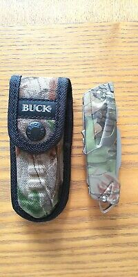 Buck Knives 730CMX X-Tract Knife with Camo Thermoplastic Handles w/ nylon sheath
