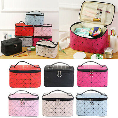 Professional Large Makeup Bag Cosmetic Case Storage Handle Travel Kit TTJ
