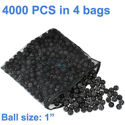 "4000pcs 1"" Bio Balls 16 Gal Aquarium Filter Media Pond Canister Filter Media"