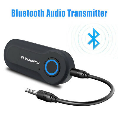 USB Bluetooth Stereo Audio Transmitter 3.5mm Music Dongle Adapter TV Computer
