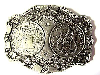 Vintage Bicentennial 1776-1976 Spirit of '76 Commemorative Coin Belt Buckle